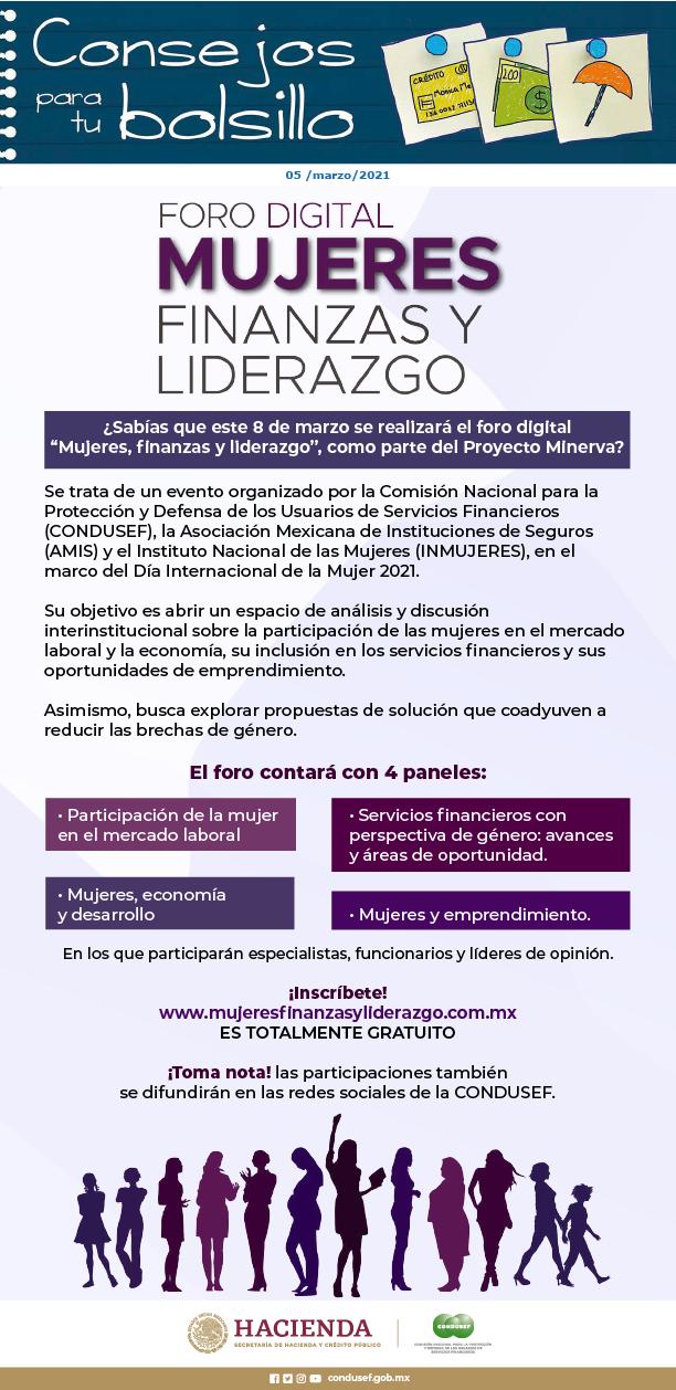 Foro digital Mujeres, finanzas y liderazgo
