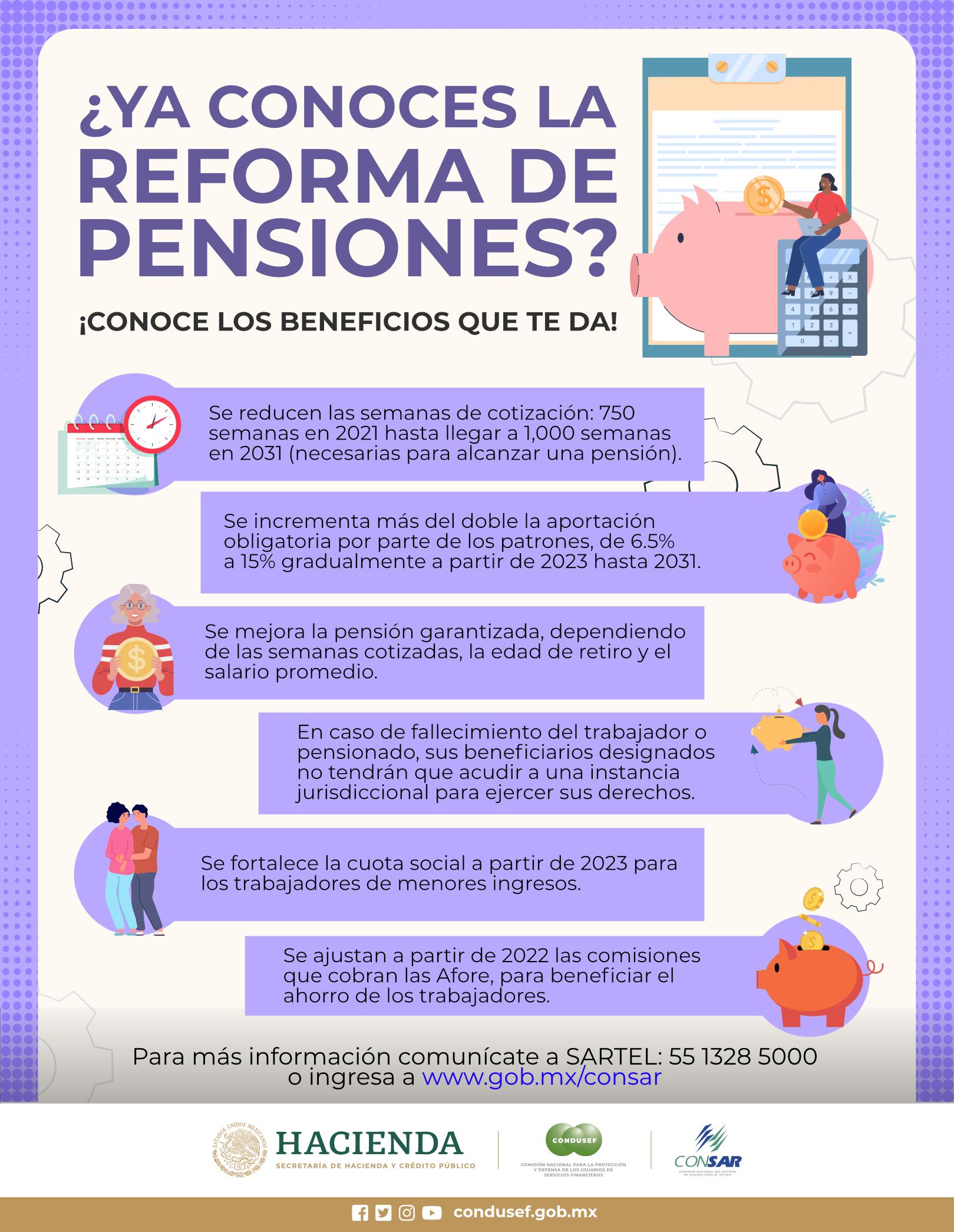 ¿Ya conoces la reforma de pensiones?
