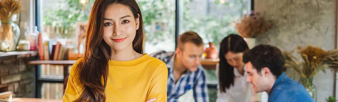Perfil de una mujer emprendedora